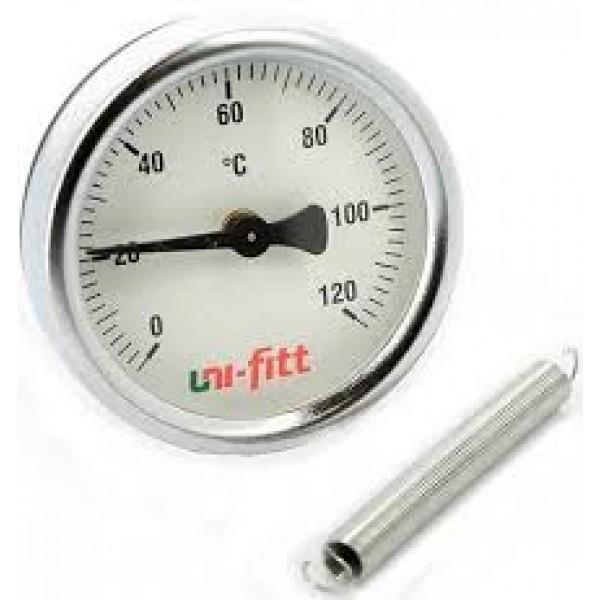 Термометр Uni-fitt (120 гр.) с пружиной