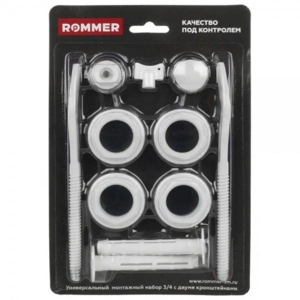 "Комплект для радиатора 3/4"" ROMMER, STI (2 кронштейна)"