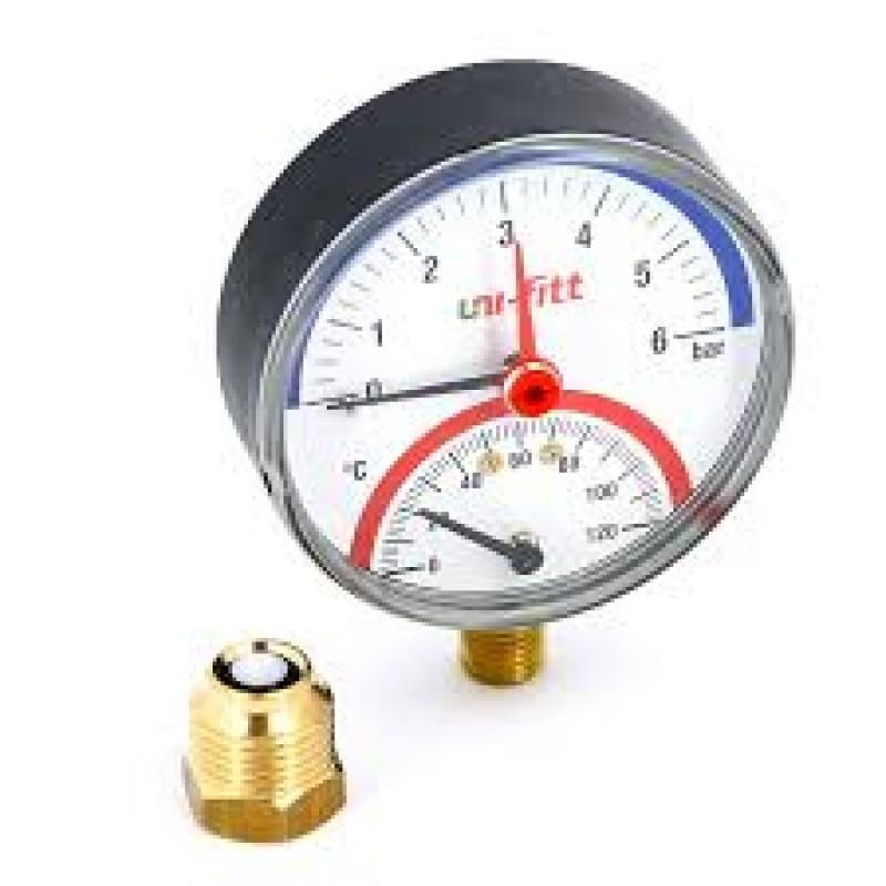 Термоманометр ITAP (6 bar, 120 град.) радиальный